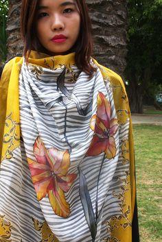 Hand painted silk scarf by Asta Masiulyte, astasilk.com/