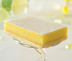 A caterer's favorite...lively lemon curd in buttery shortbread.