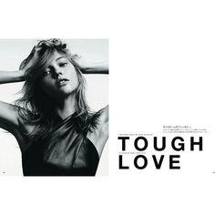 Sasha Pivovarova for Vogue Japan August 2011 by Hedi Slimane ❤ liked on Polyvore