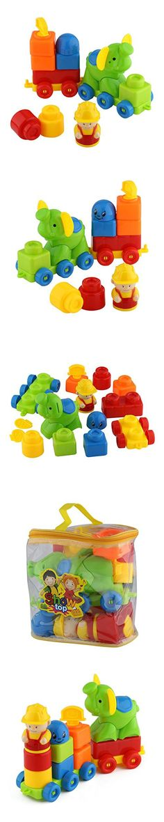 Blocks ShowTop 12 Pieces Building Blocks Children Builders with Storage Bag Elephant