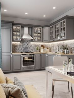 86 creative grey kitchen cabinet ideas for your kitchen 39 Modern Kitchen Cabinets Cabinet Creative Grey Ideas Kitchen Grey Kitchen Cabinets, Kitchen Cabinet Design, Interior Design Kitchen, Soapstone Kitchen, Kitchen Backsplash, Kitchen Countertops, Home Design, Backsplash Ideas, Grey Ikea Kitchen