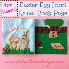 Easter Egg Hunt Quiet Book Page Free Pattern - Felt With Love Designs