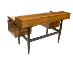 1960's Floating Desk by Milo Baughman for Drexel   From a unique collection of antique and modern desks at http://www.1stdibs.com/furniture/storage-case-pieces/desks/
