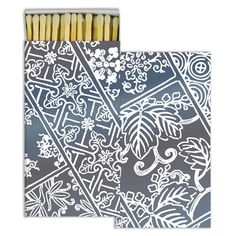 Indigo Print Decorative Matches