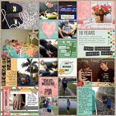 Project Life 2014 - Week 11 Right by Juli Fish. Digital layout credits - every day March is by Lauren Grier  every day March is Journal Cards by Lauren Grier  every day March is Doodles by Lauren Grier  365 Unscripted Stitched Grids 6 by Traci Reed  Stamped Alphas by Studio Basics  Today's the Day: Stamps by Studio Basics  Cindy's Layered Cards: 3x4 Collage Style 3 by Cindy Schneider .   Everyday, teen, tween, railroad,