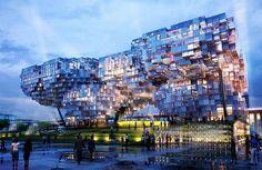 シンガポールで行われる「World Expo 2010」のパビリオン設計コンペの決勝進出者の作品