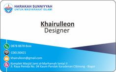 CONTOH KARTU NAMA / NAME CARD BAGIAN DEPAN BELAKANG | Design Nih