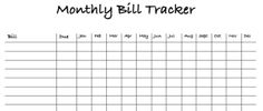 Keep track of your monthly bills. Check them off as you pay them throughout the month.