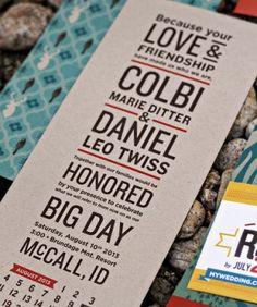 Colbi + Dans Rustic Idaho Mountain Wedding Invitations
