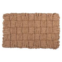 Woven Checks Coir Mat