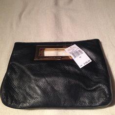 Michael Kors Berkley clutch Michael Kors Berkley clutch black with gold hardware..no dust bag.. Michael Kors Bags Clutches & Wristlets