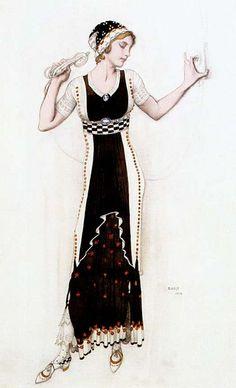 Leon Bakst, Fantasy on Modern Costume, 1912