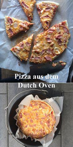Pizza aus dem Dutch Oven, hier wird der Boden wirklich genial kross!