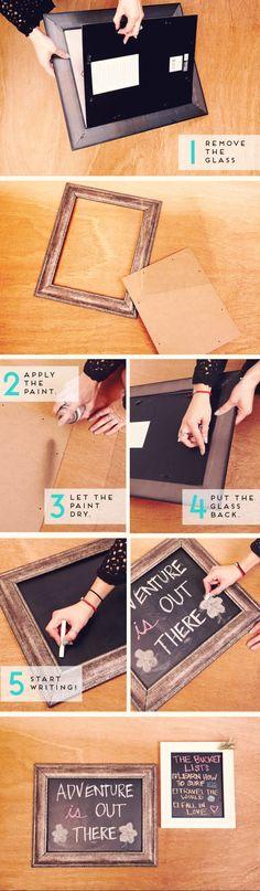 DIY Framed Chalkboard Design #F21Blog #DIY #F21FreeSpirit #WordsOfWisdom