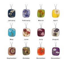 Birth Month Flower Necklaces aren't just for birthdays. Celebrate December with your favorite flower or gift one to someone special.