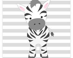 Zebra Nursery Art, Nursery Wall Art, Safari Nursery Decor, Baby Zoo Decor, Baby Girl Room, Baby Shower Gift, Baby Room Decor, Jungle Decor