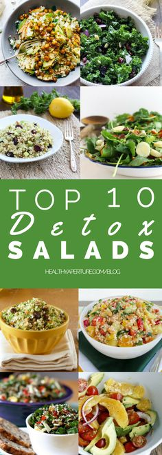 Start the new year off right with these 10 Detox Salads - great for lunch or dinner!