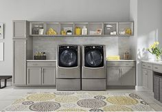 Save Energy & Time with LG Twin Wash and SideKick Laundry Pair at Best Buy Farmhouse Plans, Farmhouse Design, Energy Star Appliances, Home Appliances, Bosch Appliances, Good Environment, Samsung, Cool Things To Buy, Stuff To Buy