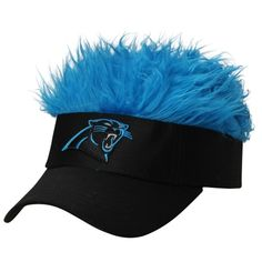 da9225e97 Be show stopping in the Carolina Panthers Flair Hair Visor.