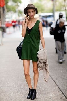 emerald summer dress