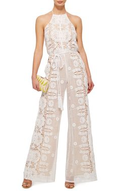 de7c3d216bc Harriet Floral Cinched Jumpsuit by MIGUELINA Now Available on Moda Operandi  Trouser Jeans