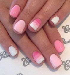 23 Beautiful Nail Art Designs for Coffin Nails - Othence White Nail Designs, Simple Nail Art Designs, Toe Nail Designs, Easy Nail Art, Acrylic Nail Designs, Cool Nail Art, Nails Design, Pink White Nails, Cute Pink Nails