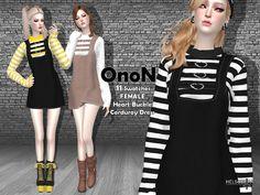 The Sims 4 ONON - Corduroy Dress