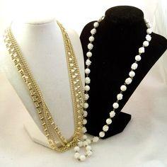 DESTASH Vintage 1960s Necklaces Sarah Coventry White Chains by Revvie1, $18.00