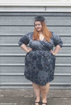 "the gorgeous Megan kerr of ""this is meghan kerre"" blog wearing our gorgeous ""stellar wrap dress""  Read the blog post by clicking on her pic - Aussie Curves: Races. And buy the fabulous dress here http://www.harlowstore.com/new-arrivals/stellar-wrap-dress/"