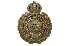 Badge. Indian Army. Bombay Volunteer Rifles Officer's pouch belt plate. A very fine and attractiv