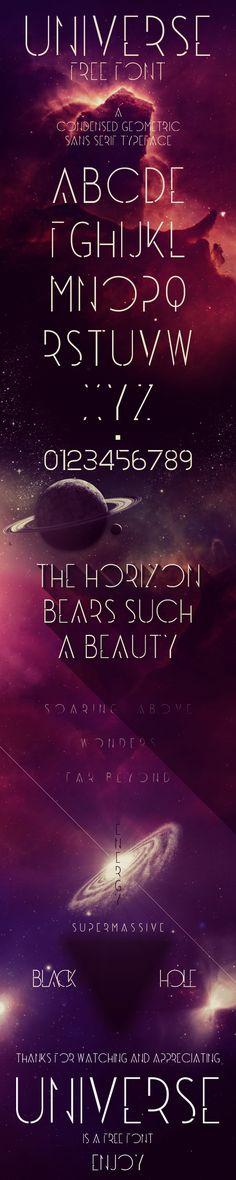 Universe - Free Font by Vincent Labonne, via Behance