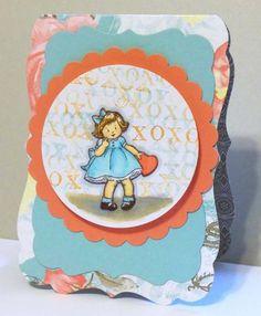 CC410 Valentine  with SU! Greeting Card Kids stamp