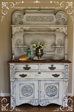 Vintage Country Style: European Sideboard Make Over Annie Sloan Chalk Paint