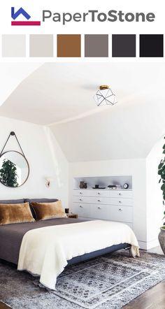 Bedroom color palette - black magenta