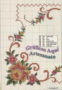 Gráficos Aqui - Artesanato: Trilho de mesa com Gráfico Aqui