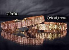 Copper Wire Woven Tennis Bracelets - Copper Woven bracelets - Handmade wire…