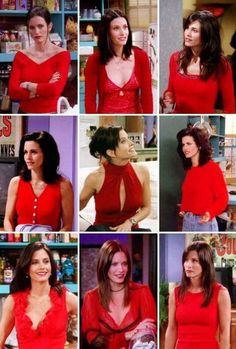 Rachel is what i wd want to dress like…bt tbh I AM A MONICA in real life !at least what she wore is damn easy on our pockets….Her top 10 Outfits : The one where 'no one could wear red like. Friends Moments, Friends Tv Show, Friends Forever, Clueless Fashion, 90s Fashion, Fashion Outfits, Tv Show Outfits, Cute Outfits, Monica Friends