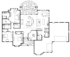 [ Open Floor Plan Custom Log Home Timber Frame Amp Hybrid Simple House Plans For Ranch ] - Best Free Home Design Idea & Inspiration One Level House Plans, One Level Homes, New House Plans, Ranch Style Floor Plans, Ranch House Plans, Craftsman House Plans, The Plan, How To Plan, Home Design