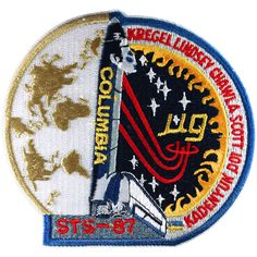 This was the twenty-fourth flight of Columbia. STS 87 flew the United States Microgravity Payload the the Orbital Acceleration Research Experiment (OARE), the EVA Demonstration Space Shuttle Missions, Nasa Missions, Nasa Store, Space Patch, Nasa Patch, Space Projects, Kennedy Space Center, Space Program, Our Solar System