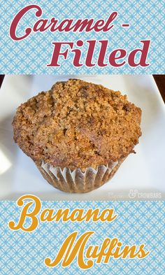 Tender Banana Muffin With A Burst of Caramel in The Center