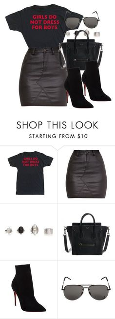 """Sin título #12236"" by vany-alvarado ❤ liked on Polyvore featuring Christian Louboutin and Yves Saint Laurent"