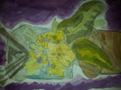 Another beautiful picture of the primroses from the Saturday Art Club at Faux Arts 8-10 years