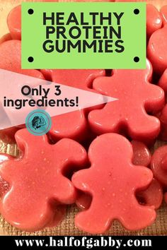 I started making these yummy gummies for my munchkins. and they've become my favorite snack! I just can't stop. It's okay! Because these suckers are not only delicious, they're healthy. I'm not talkin' just a little bit healthy eit Healthy Protein Snacks, Healthy Kids, Healthy Food, Healthy Eating, Protein Foods For Kids, Healthy Snacks For Toddlers, Raw Food, Healthy Meals, Food Food
