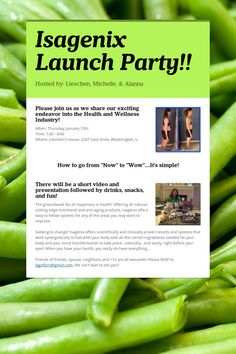 Isagenix Launch Party Invite Google Search Herbalife