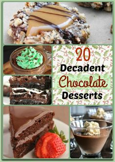 Dandy Christmas dessert recipes! These decadent chocolate desserts are perfect for serving at your holiday party.