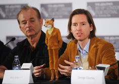 Wes Anderson with Mr. Fox