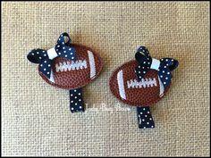 Football Hair Clip, Football Team Clip, Team Spirit, Cheer Hair Clip, Team Hair Clip, Sports Hair Clip, Football Clip, School Spirit Clip - pinned by pin4etsy.com