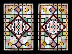 Leaded Victorian windows with Roundels Antique Stained Glass Windows, Stained Glass Door, Stained Glass Christmas, Stained Glass Projects, Stained Glass Patterns, Leaded Glass, Mosaic Glass, Glass Doors, Victorian Windows