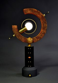 'petite arc'  Steampunk Accent Lamp by Art Donovan