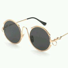 cddb2d23737 Sardar world Black Metal womens sunglasses Round Sunglasses